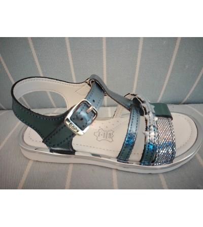 Sandalia azul estrellas
